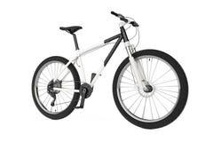Black and White Mountain Bike. 3d Rendering Stock Photo