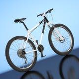 Black and White Mountain Bike. 3d Rendering Stock Photos