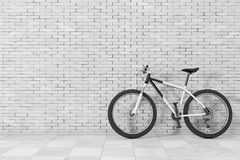 Black and White Mountain Bike. 3d Rendering Stock Photography