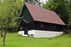 Black and white Mountain chalet - Italy Alps Stock Photos