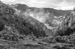 Autumn mountain landscape. Black and white mountain landscape in Asturias, northern Spain Royalty Free Stock Photos