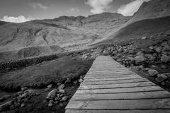 Black And White Mountain Landscape Stock Image