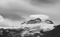 Black and White Mountain Royalty Free Stock Photos