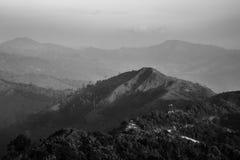 The black and white mountain Royalty Free Stock Photo