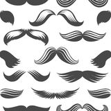 Black and white moustaches seamless pattern Stock Photo