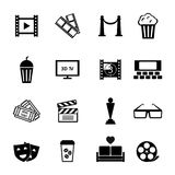 Black and White Movie Icon Designs Stock Photography