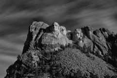 Black and white Mt Rushmore Royalty Free Stock Image