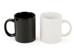 Black and white mug Royalty Free Stock Photos