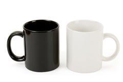 Black and white mug Royalty Free Stock Photos