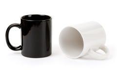 Black and white mug Royalty Free Stock Images