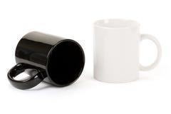 Black and white mug Royalty Free Stock Photography