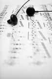 Black and white music background Royalty Free Stock Photos
