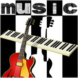 Black and white music background Royalty Free Stock Photo