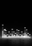 Black and White Music Equalizer Royalty Free Stock Images