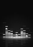 Black and White Music Equalizer Royalty Free Stock Photos