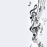 Black and White Music Notes Royalty Free Stock Images