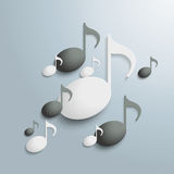 Black And White Music Notes Stock Photos
