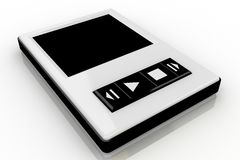 Black and white music player Royalty Free Stock Photography