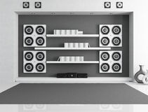 Black and white music room Royalty Free Stock Images