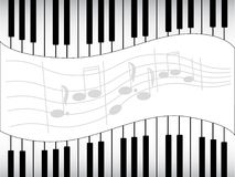 Black-white musical notes Stock Photography