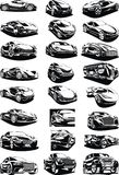 Black and white my original designed cars Royalty Free Stock Photo