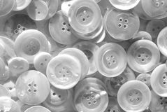 Black and white nacre buttons Stock Photos