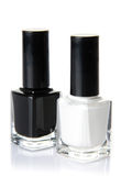 Black and white nail varnish Stock Image