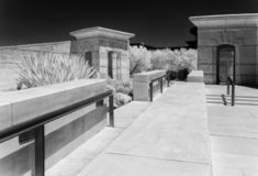 Napa Valley Winery, black and white. Black and white, Napa Valley Winery building royalty free stock images