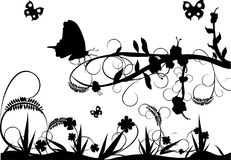 Black and white nature. Composition Stock Illustration