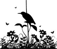 Black and white nature vector. Composition Vector Illustration
