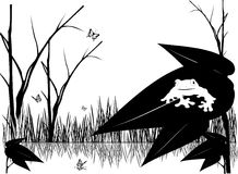 Black and white nature vector. Composition Stock Illustration