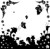 Black and white nature vector Stock Image