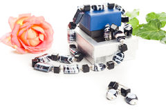 Black and white necklace Stock Photo