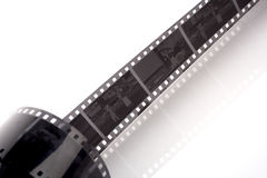 Black and white negative film Stock Photo