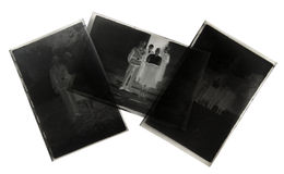 Black and white negative sheet films Royalty Free Stock Photography