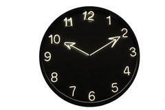 Black and White Neon Clock Stock Photography
