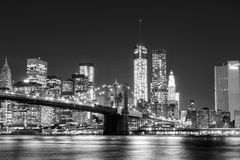 Black and White New York Skyline Royalty Free Stock Images