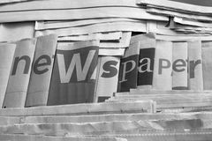 Black and white newspaper background Stock Photography