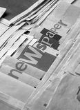 Black and white newspaper royalty free stock images