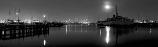 Black and white night Stock Photos