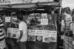 Black and White 626 Night Market, Arcadia, California Royalty Free Stock Images