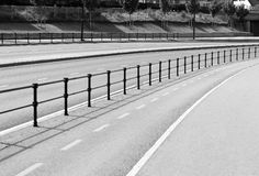 Black and white Norway road separation line background. Hd Stock Images