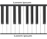 Vector black and white note piano with white background royalty free illustration