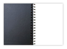 Black  and white note book. It use for write message Royalty Free Stock Image