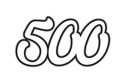 500 black and white number logo icon design. Design of black and white number 500 suitable as a logo for a company or business royalty free illustration
