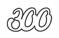 300 black and white number logo icon design. Design of black and white number 300 suitable as a logo for a company or business stock illustration