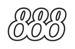 888 black and white number logo icon design. Design of black and white number 888 suitable as a logo for a company or business vector illustration
