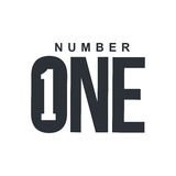 Black and white number one diagonal logo template. Vector illustrations isolated on white background. Graphic logo with diagonal logo with three dimensional Royalty Free Stock Photos
