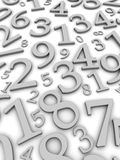 Black and white numbers. Background. 3d rendered illustration Royalty Free Stock Photo