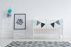 Black and white nursery royalty free stock photo